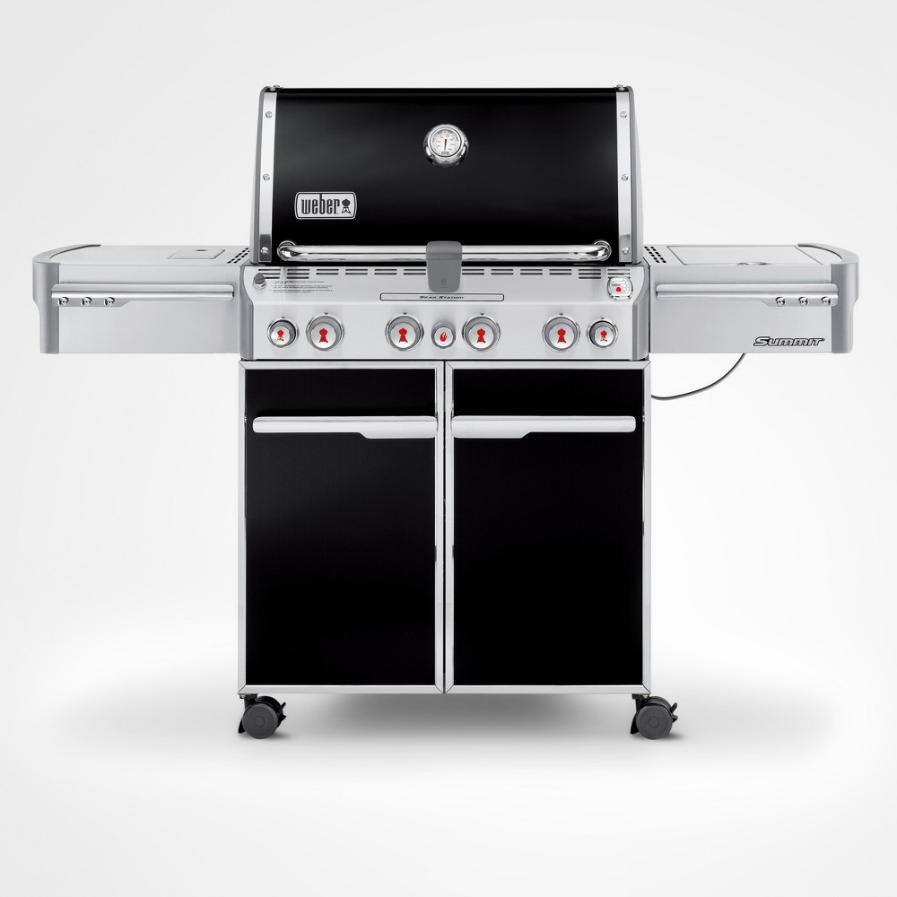 Weber Summit E-470 LP Gas Grill, Black 14998360