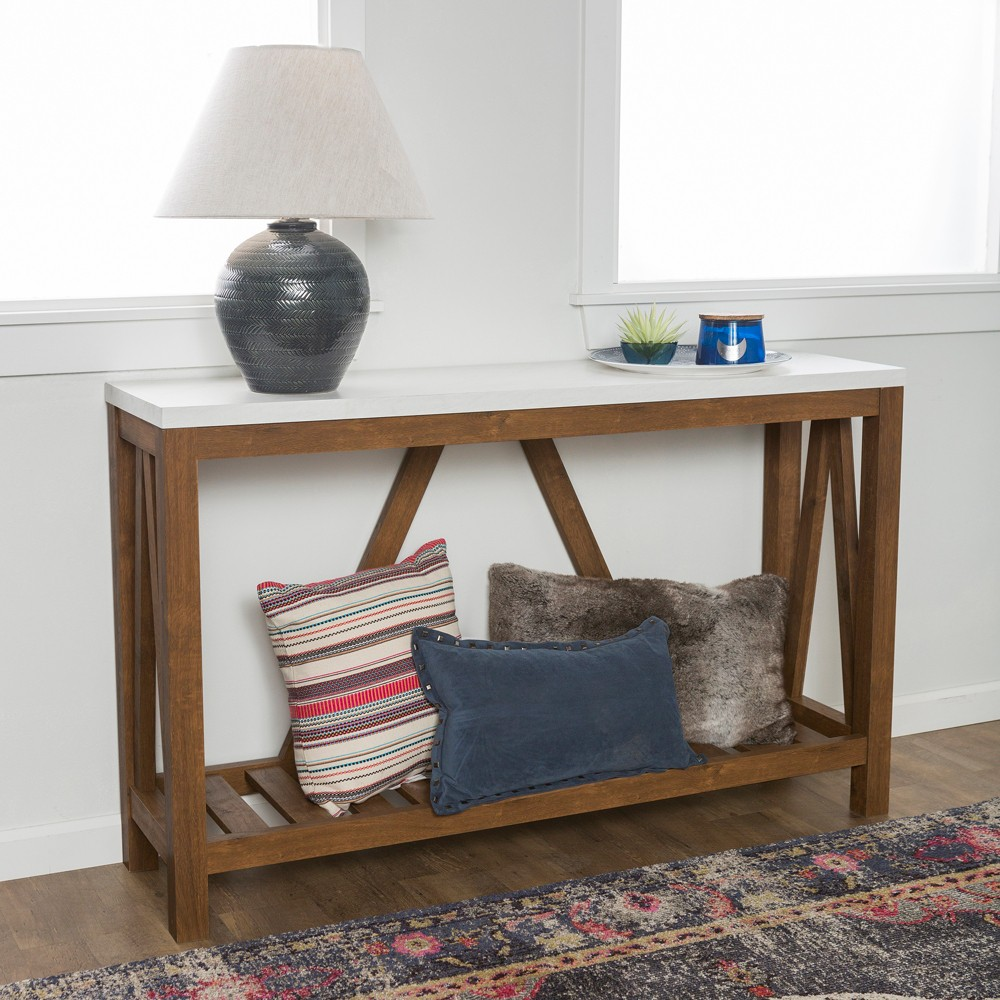 Image of Console Tables Walnut - Saracina Home, Brown