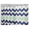 Chevron Polyester Shower Curtain - iDESIGN - image 3 of 4