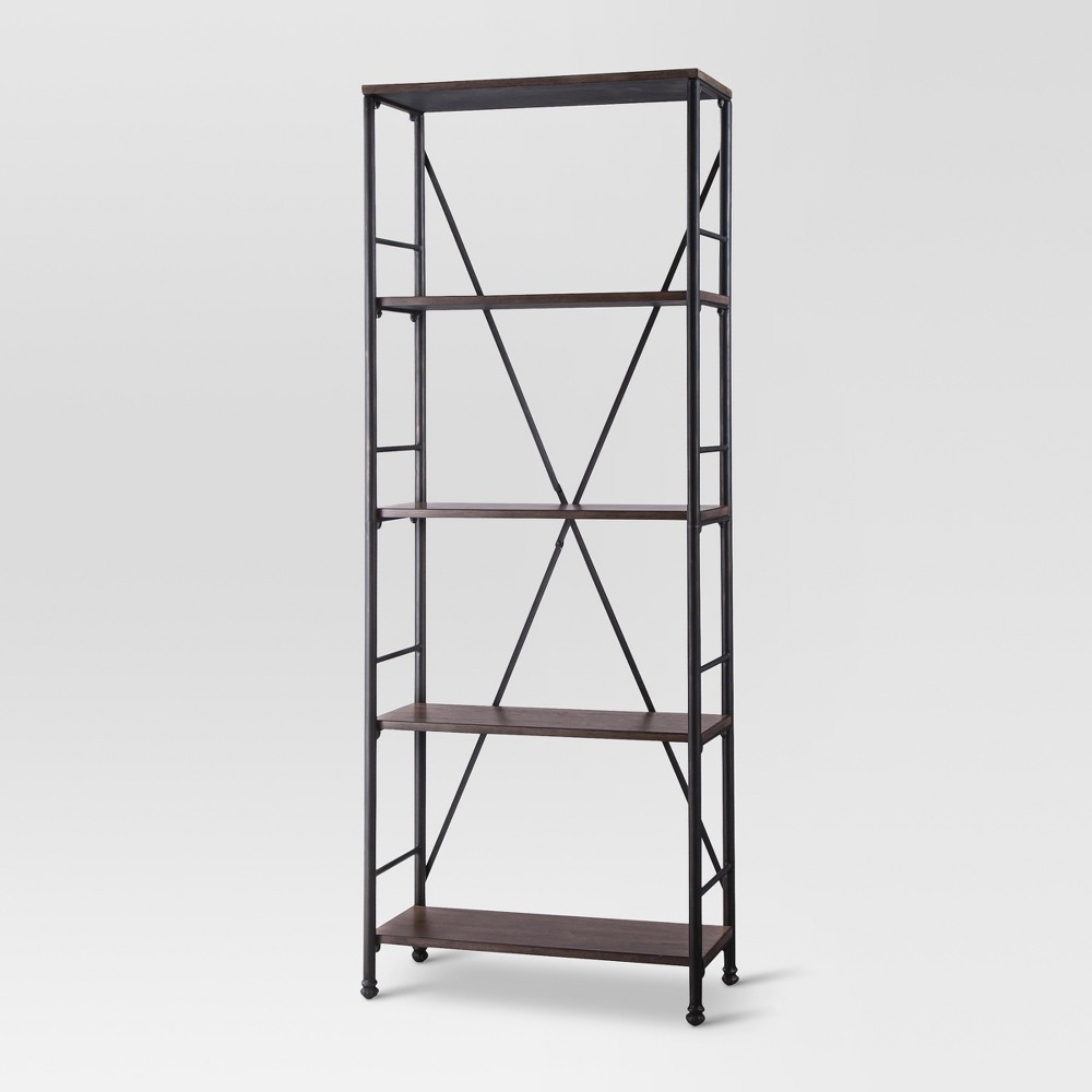 70.6 4 Shelf Bookcase - Brown - Threshold
