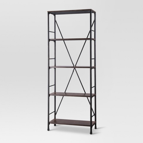 706 4 Shelf Bookcase Brown Threshold Target