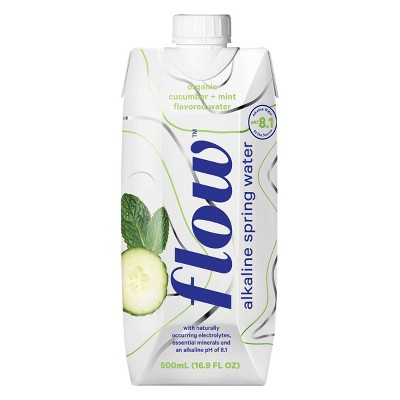 Flow Organic Cucumber & Mint Alkaline Spring Water - 16.9 fl oz Bottle