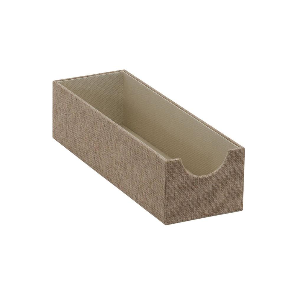 Image of Household Essentials Narrow Shelf Organizer Tray Brown