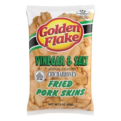 Golden Flake Vinegar & Salt Chicharrones Fried Pork Skins - 3.25oz