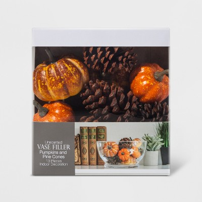 Vase Filler Unscented Pumpkins & Pinecones