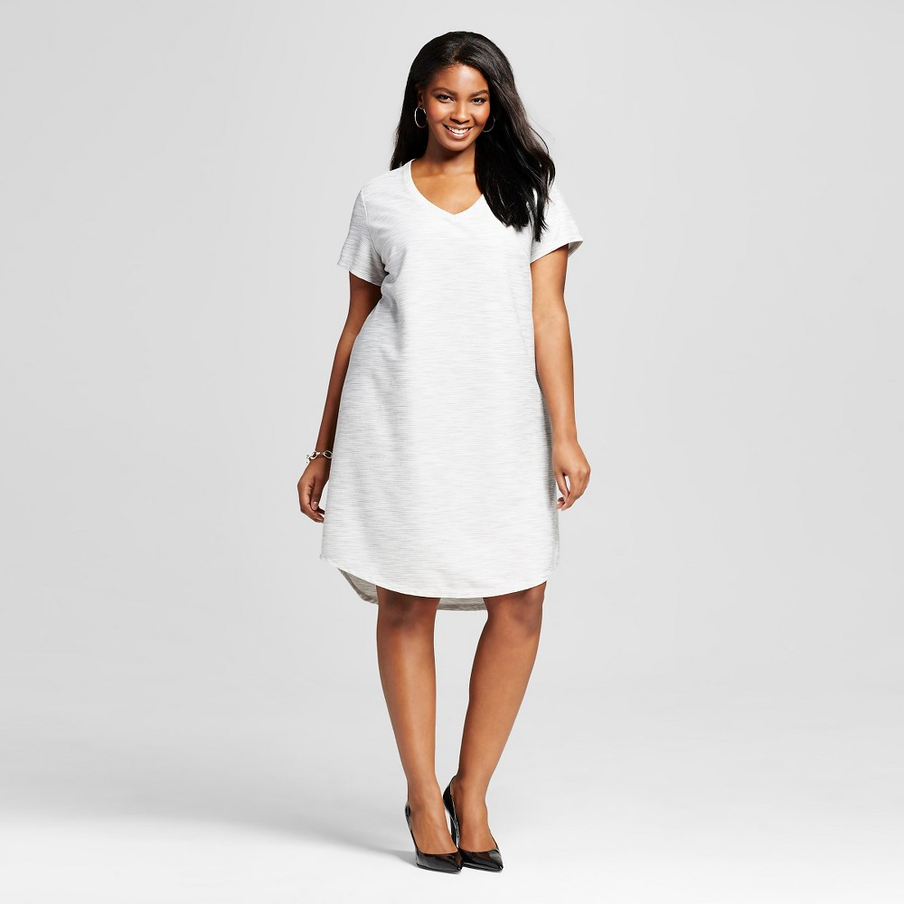 Women's Plus Size T-Shirt Dress - Merona Gray 2X
