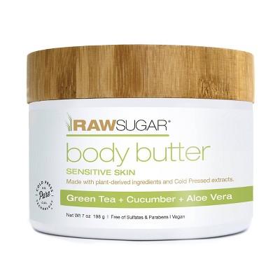 Raw Sugar Body Butter Green Tea + Cucumber + Aloe Vera - 7 oz