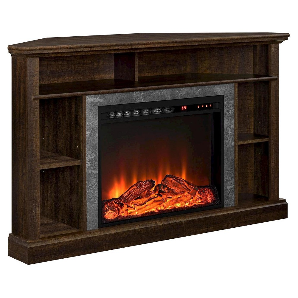 Irving Electric Corner Fireplace for TVs up to 50 Wide - Espresso - Room & Joy, Brown