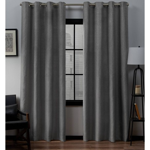 Loha Linen Window Curtain Panel Pair - Exclusive Home™ - image 1 of 7