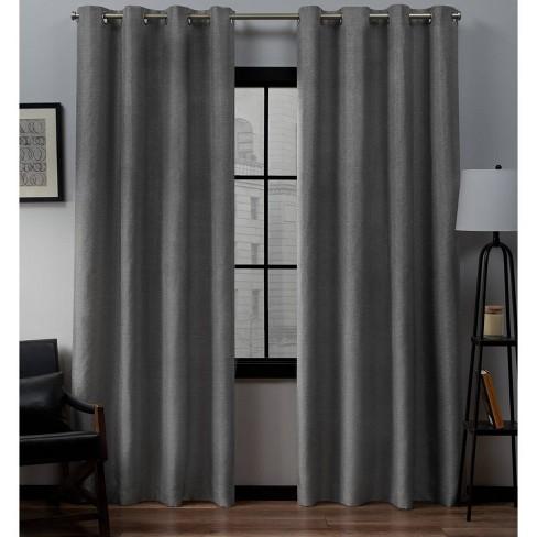 Set of 2 Loha Linen Window Curtain Panel - Exclusive Home™ - image 1 of 4