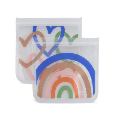 Full Circle Ziptuck Reusable Sandwich Set - Hopeful Rainbows