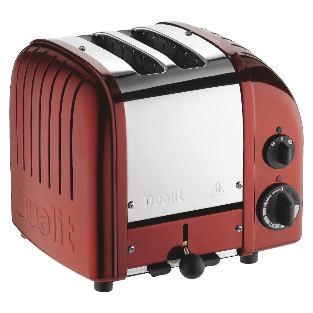 Dualit Red NewGen Toaster - 10x9x8 Bursting with retro charm, the Dualit, New Generation, Classic 2-Slice Toaster expertly complements your distinctive kitchen décor. A range of custom settings create the perfect toast each and every time. The perfect marriage of form and function, it's a must-have! Color: Red.