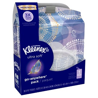 Kleenex Ultra Soft Go Anywhere Pack Facial Tissue - 30ct