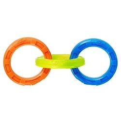 NERF 3-Ring Tug Dog Toy - Blue - L
