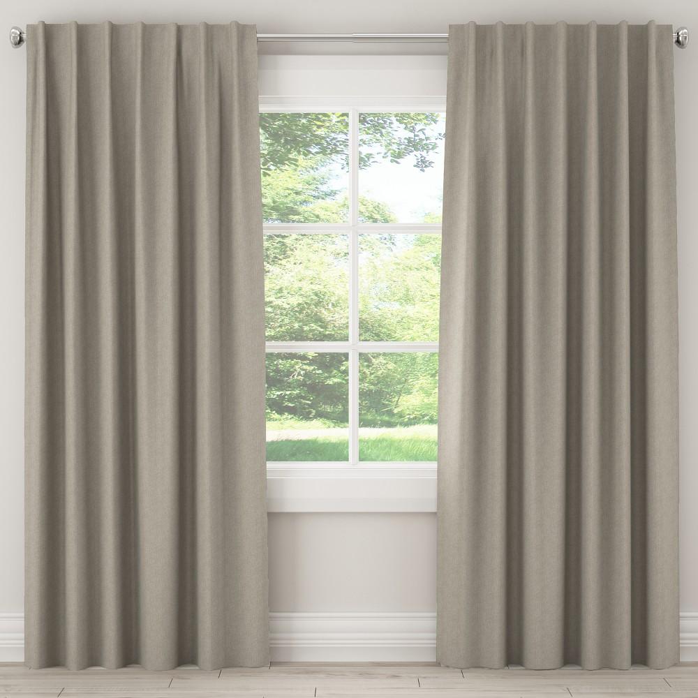 Blackout Curtain Groupie Pewter (Silver) 108L - Skyline Furniture