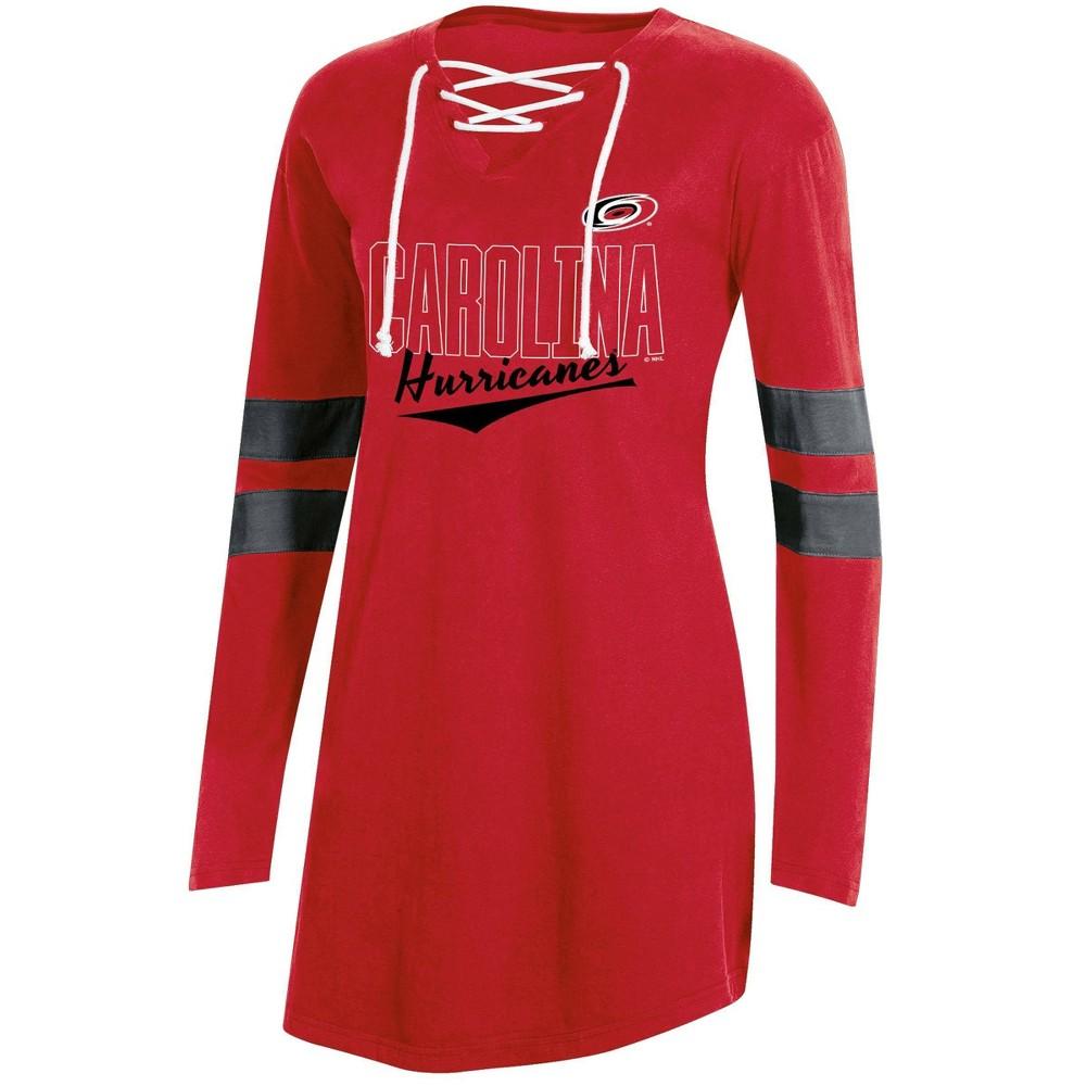 Nhl Carolina Hurricanes Women 39 S Laceup T Shirt Xl