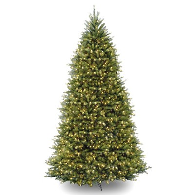 10ft National Christmas Tree Company Dunhill Fir Hinged Full Artificial Christmas Tree with 1200 Clear Lights