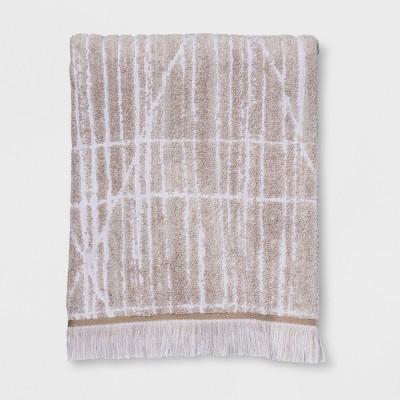 Diamond Lines Bath Towel Khaki - Project 62™