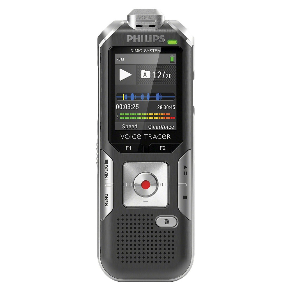 Philips Voice Tracer 6500 Digital Voice Recorder with 4GB Internal Memory - Silver (DVT650000), Beige The Philips Voice Tracer 6500 Digital Voice Recorder with 4GB Internal Memory in Silver (DVT650000) can record from a distance and analyze incoming sound signals and automatically adjust the zoom. Color: Champagne.