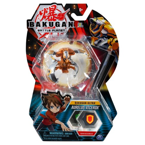 """Bakugan Ultra Aurelus Vicerox 3"""" Collectible Action Figure and Trading Card - image 1 of 4"""
