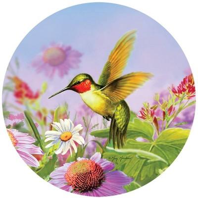 "Home & Garden 12.0"" Hummingbird Stepping Stone Bird Flowers Summer Spring Custom Decor  -  Stepping Stones And Pathways"