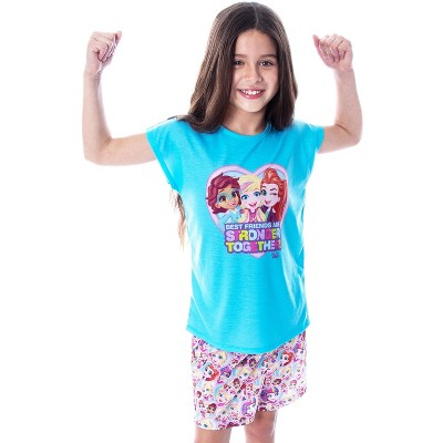 Polly Pocket Little Girls' Best Friends Shirt and Shorts 2 PC Pajama Set