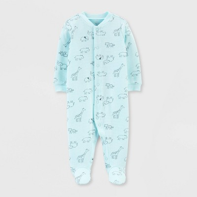Baby Boys' Safari Animal Interlock Sleep 'N Play 1pc Pajama - Just One You® made by carter's Gray 6M