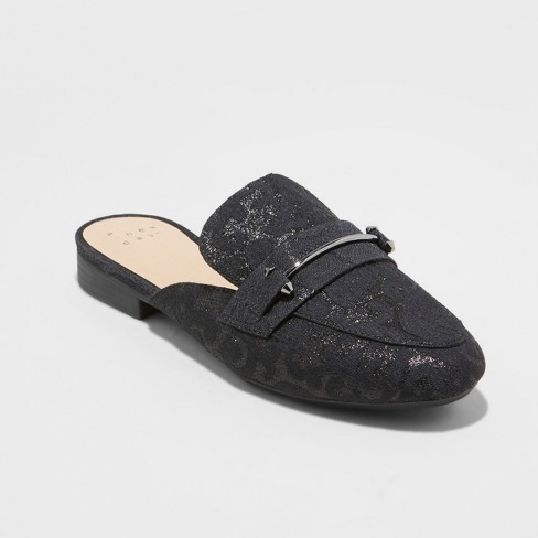 Women's Remmy Plaid Backless Loafers - A New Day™ - image 1 of 3
