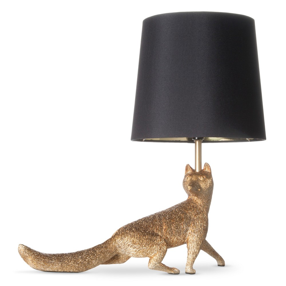 Image of Fox Table Lamp Black/Gold (Lamp Only) - J. Hunt