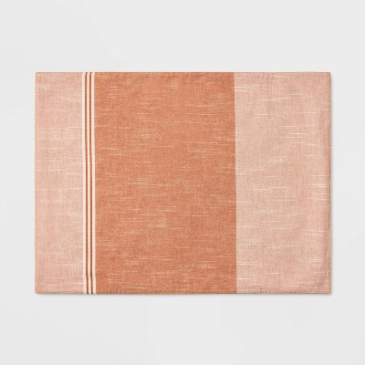 19 x14  Blocked Stripe Placemat Coral - Project 62™