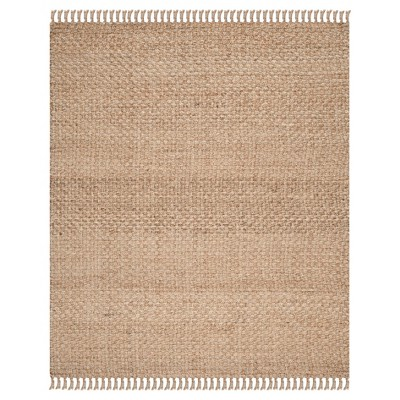 Natural Solid Loomed Area Rug - (8'x10')- Safavieh