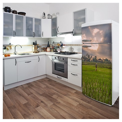 Rice fields in Bali Fridge Wall Decal - image 1 of 1
