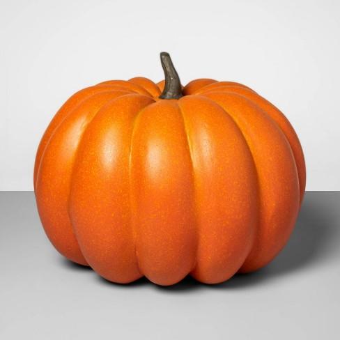 """14"""" x 12.5"""" Decorative Papier-Mch Pumpkin Orange - Threshold™ - image 1 of 1"""