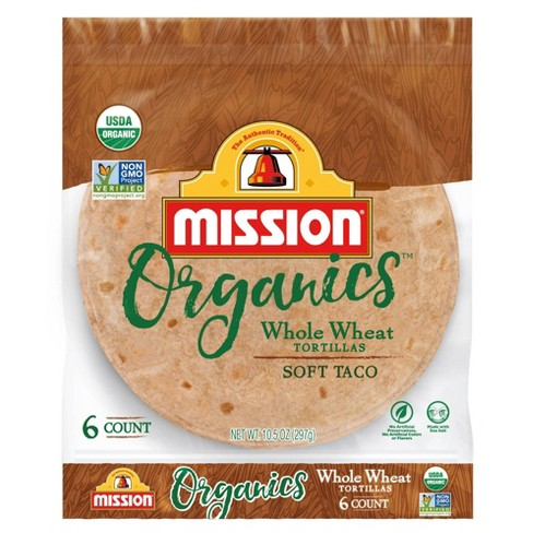Mission Taco Size Organic Whole Wheat Tortillas - 10.5oz/6ct - image 1 of 4