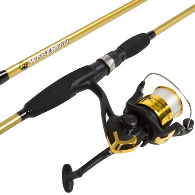 Wakeman Fishing Rod and Reel Combo - Gold