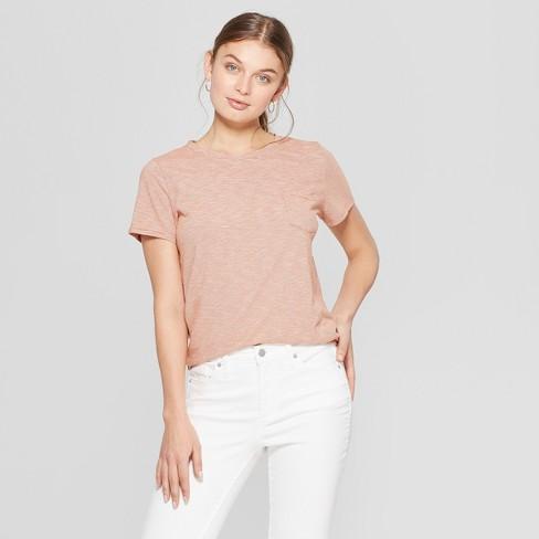 Women's Meriwether Relaxed Fit Short Sleeve Crewneck Pocket T-Shirt - Universal Thread™ Orange XL - image 1 of 3