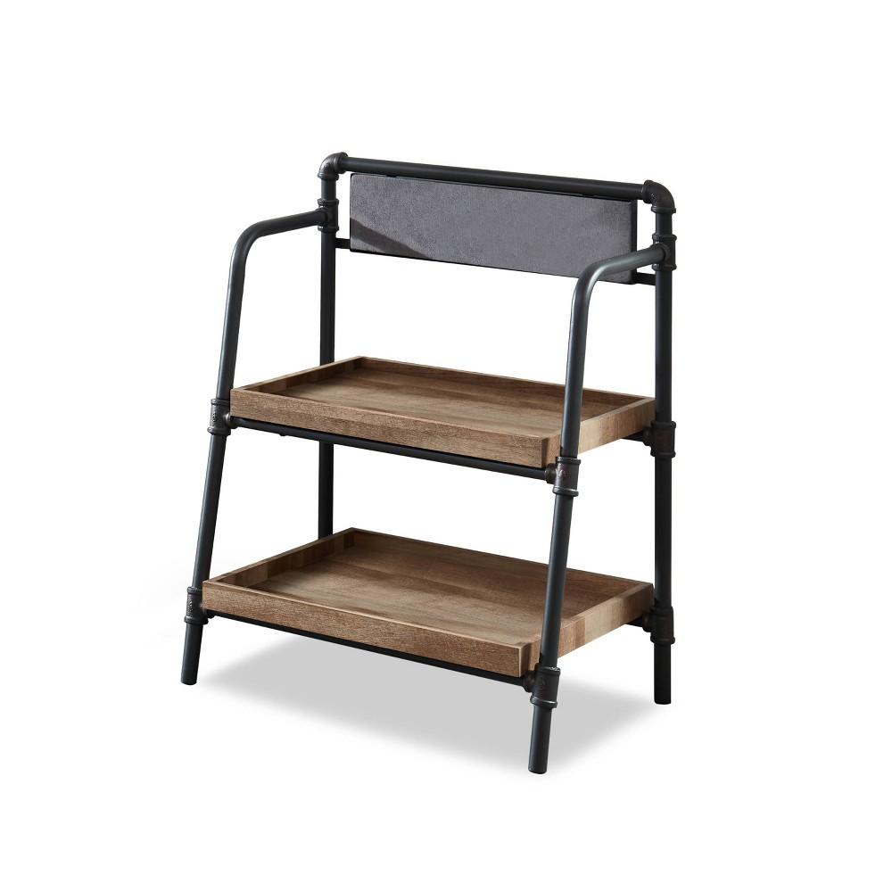 "Best 37.75"" Mack 2 Shelf Rustic Bookcase Light Copper - HOMES: Inside + Out"