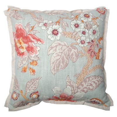 Green Room With A View Cerulean Throw Pillow 16.5x16.5  - Pillow Perfect®