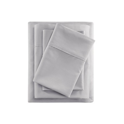 Full 600 Thread Count Cooling Cotton Sheet Set Gray