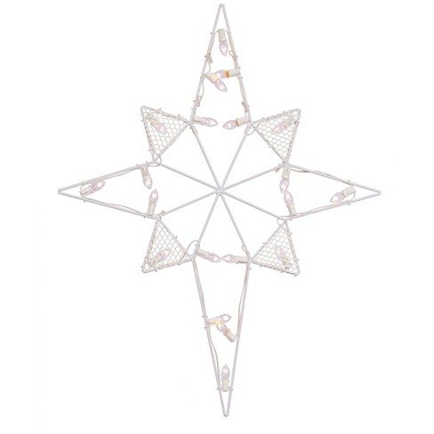 "39"" x 30"" LEDC7 Wire Silhouette Star-Bethlehem - Warm White - image 1 of 1"
