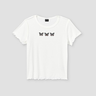 Girls' Embroidery Short Sleeve T-Shirt - art class™