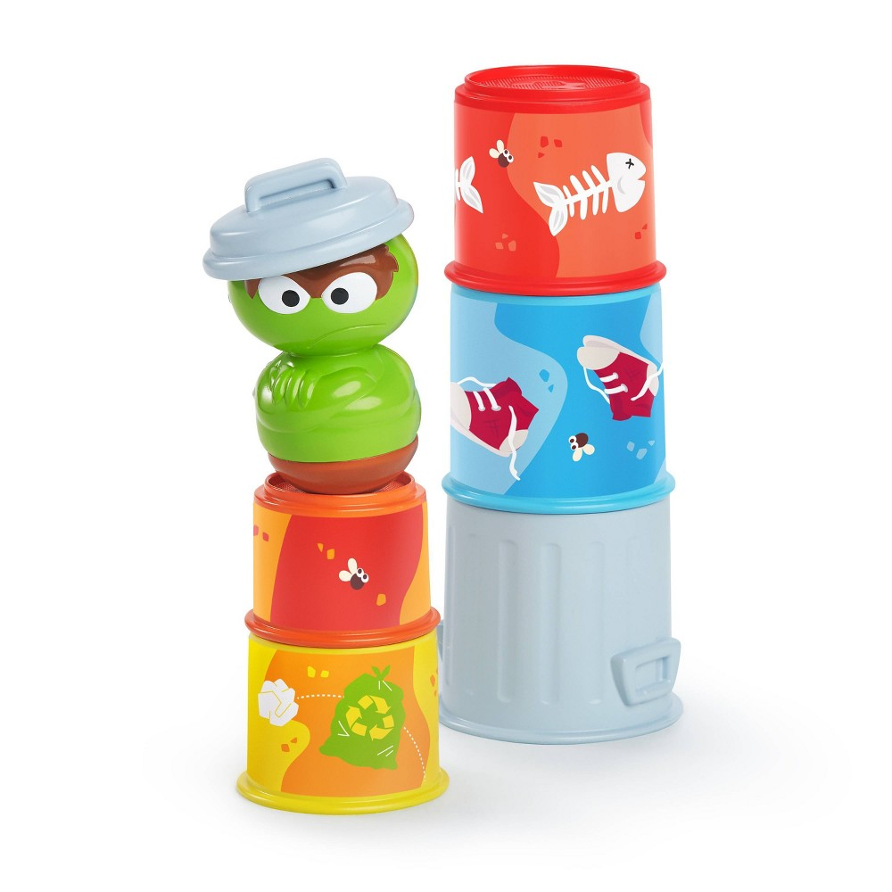 Image of Bright Starts Sesame Street Oscar Stacking Cups - 5pc