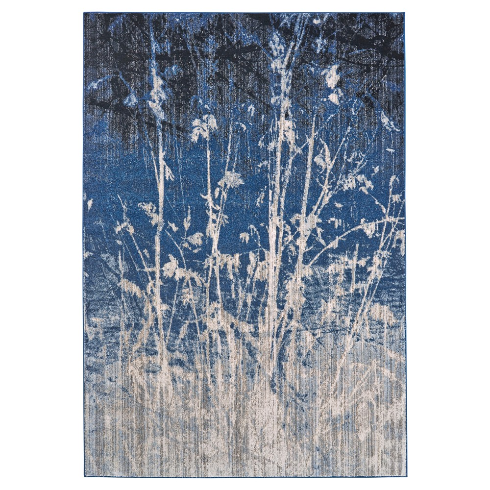 7'10X11' Tree Loomed Accent Rugs Area Rugs Atlantic - Room Envy, Blue