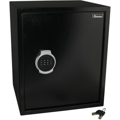 Sunnydaze Indoor Digital Security Safe Lock Box with Bolt-Down Hardware and Programmable Lock - 2.26 Cubic Feet - Black