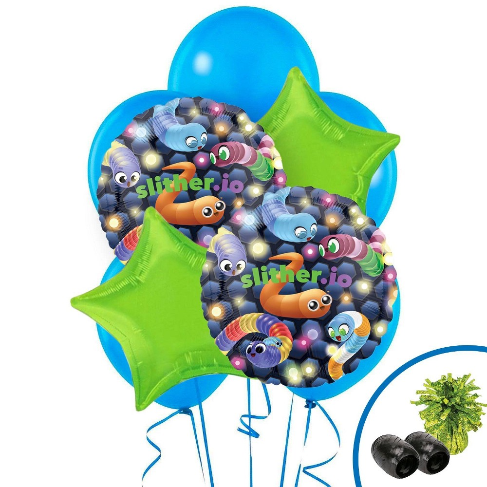 Image of Slither.io Balloon Bouquet Kit, Multi-Colored