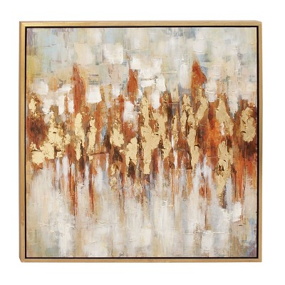 """39"""" x 39"""" Traditional Framed Abstract Canvas Art - Olivia & May"""