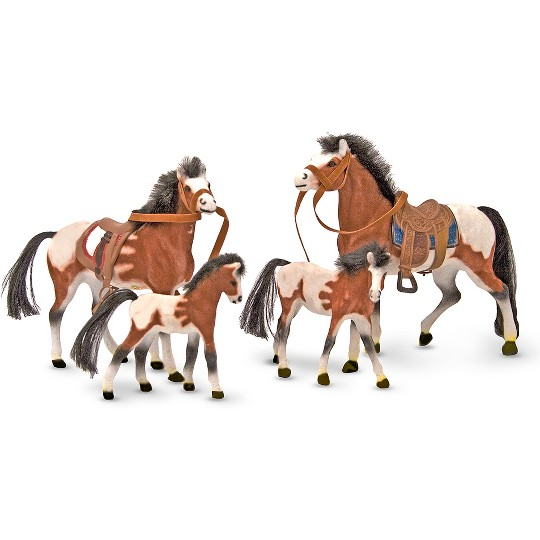 Melissa & Doug Horse Family With 4 Collectible Horses image number null