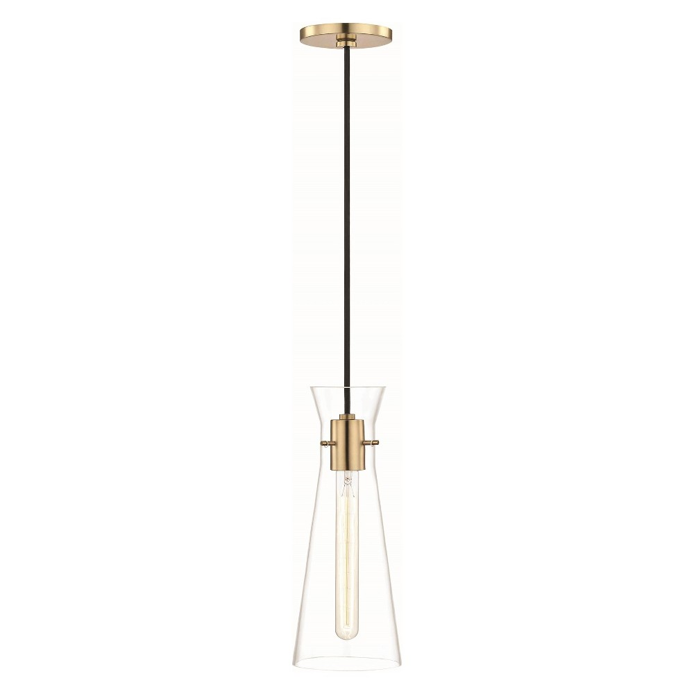 Image of 1pc Anya Light Pendant Brass - Mitzi by Hudson Valley