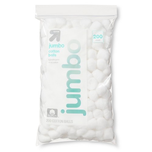 Jumbo Cotton Balls - 200ct - Up&Up