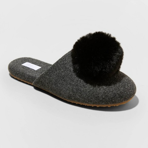 Women's Victoria Pom Scuff Loafer Slippers - Stars Above™ - image 1 of 3